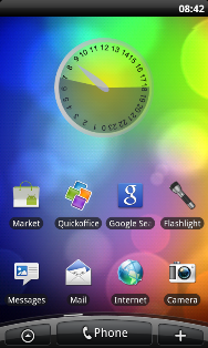 Screenshot of medium Daylight Clock widget on an HTC Desire